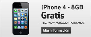 iPhone 4 - 8GB gratis
