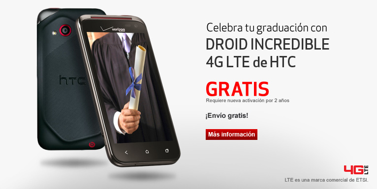 DROID Incredible 4G LTE gratis