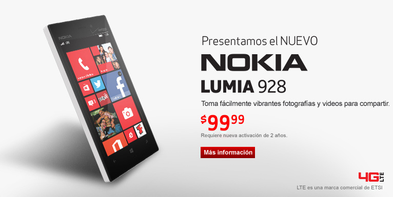 Nuevo! Nokia Lumia 928